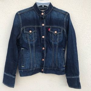 LEVI's denim jean jacket blue EASY RIDER ombre S